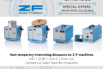 special discount on Z+F machines
